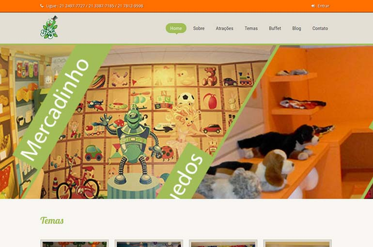 Captura de tela do site da Mister Frog