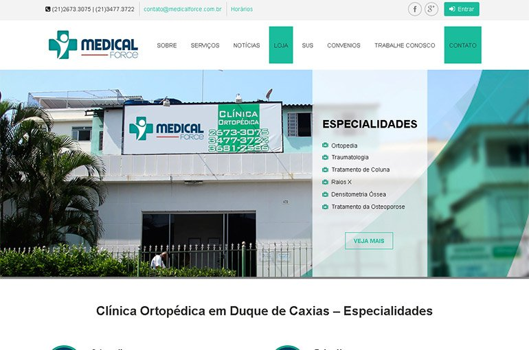 Site da Medical Force