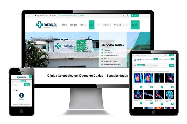 Site responsivo da Medical Force