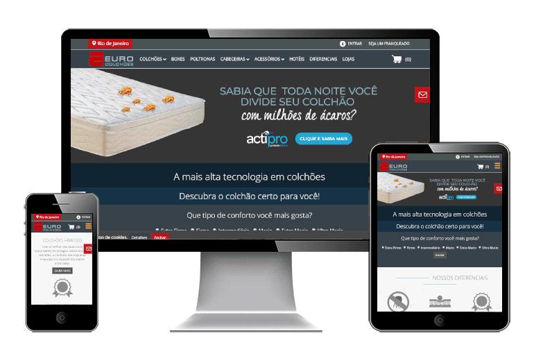 Design Responsivo para Euro Colchões projeto e-commerce 2017
