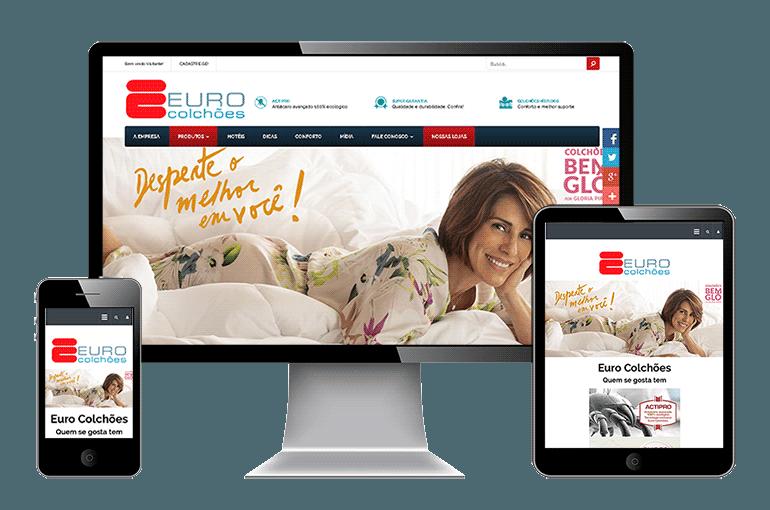 Site Responsivo da Euro Colchões